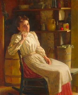 Barrel Painting - Meditation                                    by John George Brown