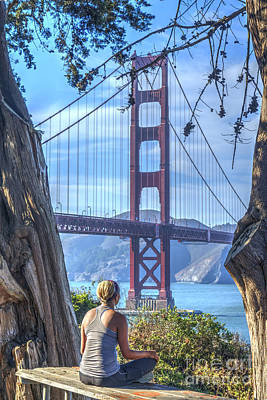Photograph - Meditation Golden Gate Bridge by David Zanzinger