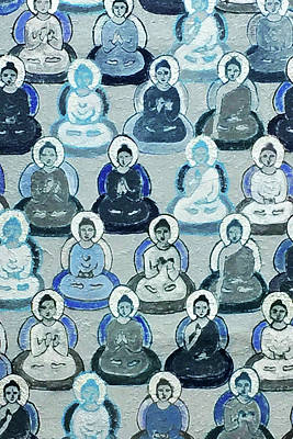 Photograph - Meditation In Blue by Art Block Collections