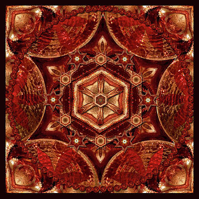Digital Art - Meditation In Copper by Deborah Smith