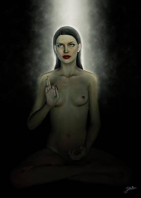 Digital Art - Meditation In The Dark by Joaquin Abella Ojeda