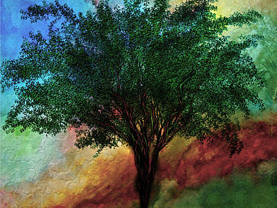 Digital Art - Meditation Inspiration Tree Art by Barbara Chichester
