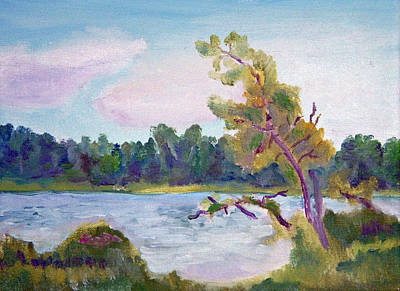Painting - Meditation Lake  by Paul Thompson