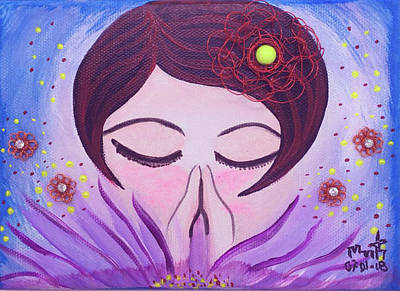 Mixed Media - Meditation by Marita Valdizan