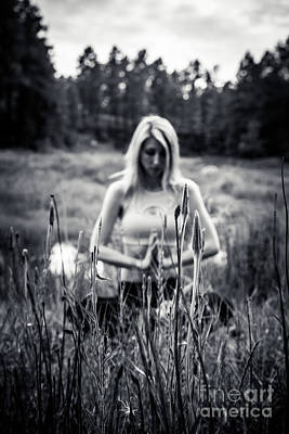 Photograph - Meditation Meadow Bw Background by Scott Sawyer