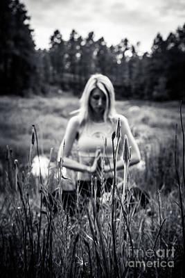 Photograph - Meditation Meadow Bw Background by Scott Sawyer