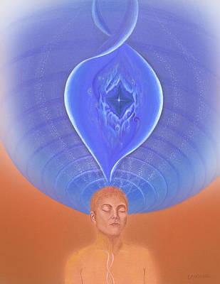 Spiritual Drawing - Meditation On Full Health by Robin Aisha Landsong