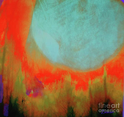 Digital Art - Super Blue Moon by Zsanan Narrin