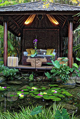 Photograph - Meditation Pavilion by Endre Balogh