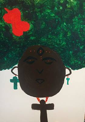 Meditation Queen  Art Print
