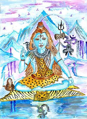 Mahabharata Painting - Meditation.. Silence Is God by Chitra Pandalai
