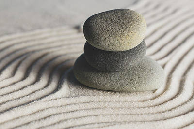 Photograph - Meditation Stones Number 2 Color by Andrew Pacheco