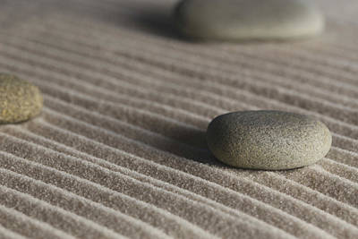 Photograph - Meditation Stones On Waves Of Sand Color by Andrew Pacheco