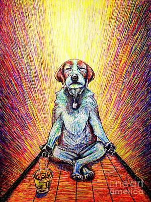 Painting - Meditation by Viktor Lazarev
