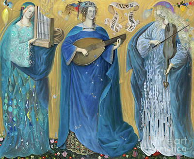 Meditations On The Holy Trinity  After The Music Of Olivier Messiaen, Art Print by Annael Anelia Pavlova