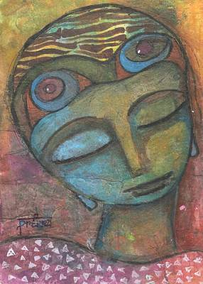 Art Print featuring the mixed media Meditative Awareness by Prerna Poojara