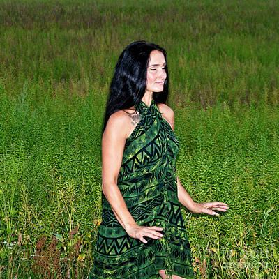 Photograph - Meditative Dance In The Green Summer Field by Silva Wischeropp