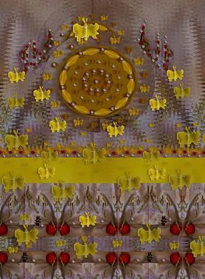 Ladybug Mixed Media - Meditative Garden by Pepita Selles