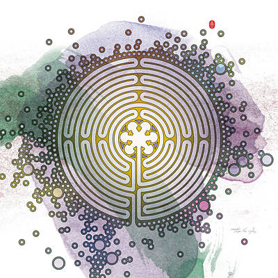 Mandala Digital Art - Meditative Labyrinth by Thoth Adan