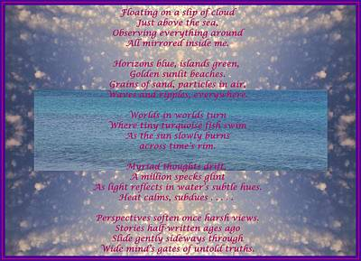 Mixed Media - Meditative Poem Written On Greek Beaches by Julia Woodman