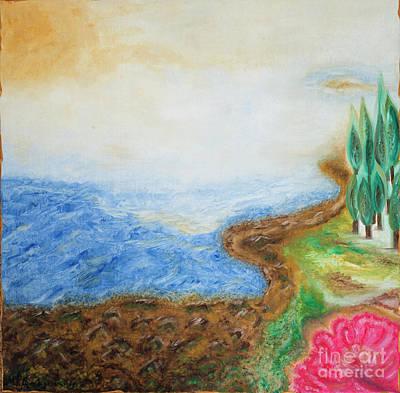 Painting - Mediteranean Heart by MarBak Treasures by Mary P Bakogiannis