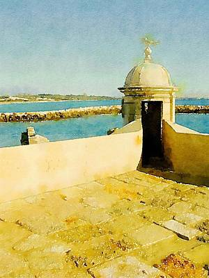 Fashion Design Art Painting - Mediteranean View By John Springfield by John Springfield