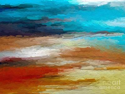 Seascape Digital Art - Mediterranean by Anthony Fishburne
