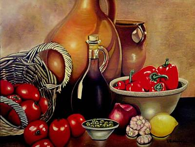 Painting - Mediterranean Appetite by Victoria Rhodehouse