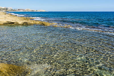 Photograph - Mediterranean Delight - Maltese Natural Beach Pool by Georgia Mizuleva