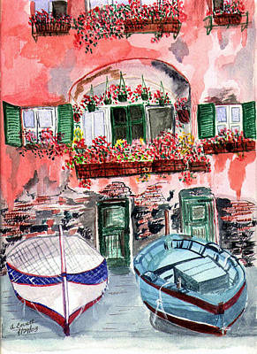 This Work Is Sold Painting - Mediterranean Drydock by Arlene  Wright-Correll
