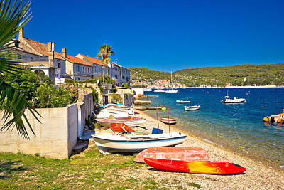 Photograph - Mediterranean Fishermen Town Of Vis Coast by Brch Photography
