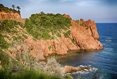 Photograph - Mediterranean French Coastline by Tatiana Travelways