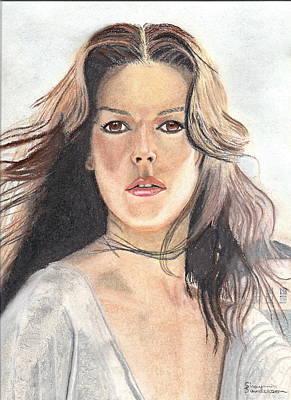 Mid Eastern Woman Painting - Mediterranean Girl by Shawn Sanderson