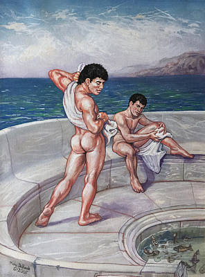 Painting - Mediterranean Men  by Marc  DeBauch