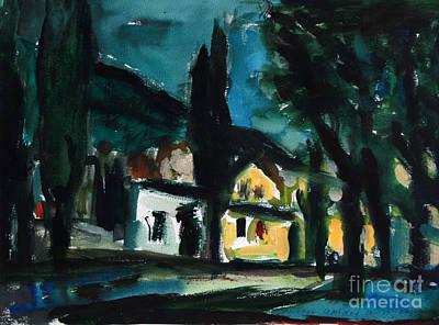 Painting - Mediterranean Night by Andrey Semionov