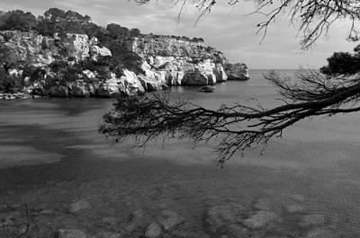 Photograph - Mediterranean Paradise Black And White By Pedro Cardona by Pedro Cardona Llambias
