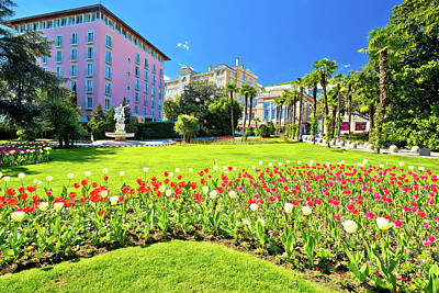 Photograph - Mediterranean Park In Town Of Opatija by Brch Photography