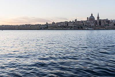 Photograph - Mediterranean Silk - Valletta Malta Skyline by Georgia Mizuleva