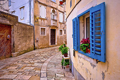 Photograph - Mediterranean Stone Street Of Porec View by Brch Photography