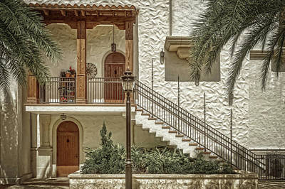 Photograph - Mediterranean Style Apartments  -  Upstairsdownstairsdesat173172 by Frank J Benz