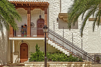 Photograph - Mediterranean Style Apartments  -  Upstairsdownstairs173172 by Frank J Benz