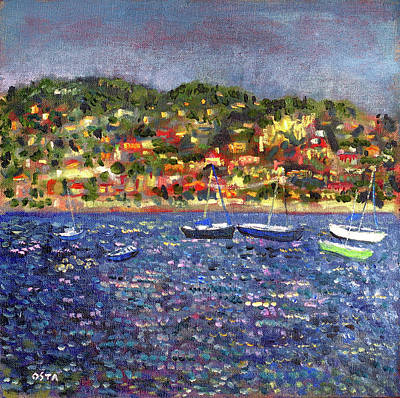 Villefranche Painting - Mediterranean Sunset by Andrew Osta