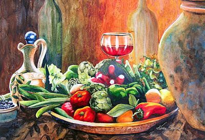 Mediterranean Table Art Print by Karen Stark