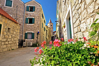 Photograph - Mediterranean Town Of Pirovac Stone Street by Brch Photography