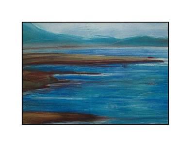 Mediterranean View Art Print by Angela Puglisi