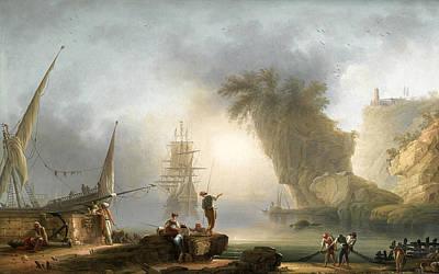 Painting - Mediterranean View At Daybreak by Francesco Fidanza