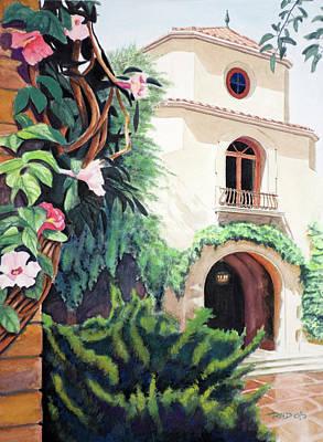 Villa Painting - Mediterranean Villa by Christopher Reid