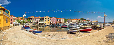 Photograph - Mediterranean Village Of Sali Panoramic Waterfront by Brch Photography