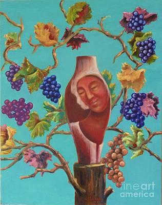 Painting - Meditrina by Ushangi Kumelashvili