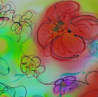 Painting - Medium Flower 1 by Barbara Pease